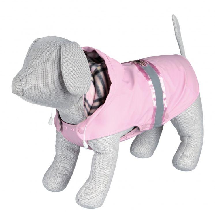 Ein neues Modell eines Hundemantels. Der Mantel mit Kapuze hat reflektierende Elemente.