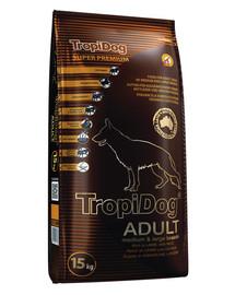 TROPIDOG Adult für mittlere & große Rassen mit Lamm & Reis 15kg