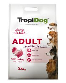 TROPIDOG Premium Adult S für kleine Rassen mit Truthahn & Reis 2,5kg