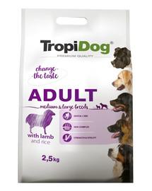 TROPIDOG Premium Adult MEDIUM & LARGE BREEDS with LAMB and RICE 2,5kg