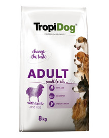 TROPIDOG Premium Adult SMALL BREEDS with LAMB and RICE 8kg