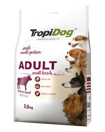 TROPIDOG Premium Adult S Beef&Rice 2,5kg