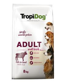 TROPIDOG Premium Adult S Beef&Rice 8kg