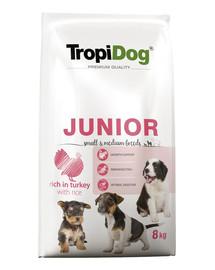 TROPIDOG Premium Junior S&M Turkey&Rice 8kg