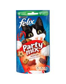 FELIX Party Mix Grillspaß mit Rind-, Huhn- und Lachsgeschmack 8x60g