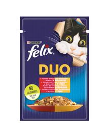 FELIX Duo Doppelt lecker mit Rind & Geflügel 85 g
