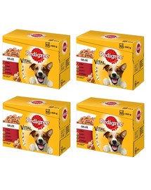 PEDIGREE Pedigree Adult Hundenassfutter für ausgewachsene Hunde im Portionsbeutel 48x100g