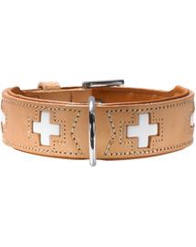HUNTER Schweizer Leder Hundehalsband XS (32) 24-28,5/2,6 cm beige
