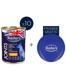 BUTCHER'S Functional Dog Joints mit Hähnchenstücken in Sauce 10x400g + Frisbee FREE