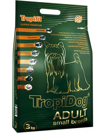 TROPICAL Tropidog Adult Small Breeds Lamm, Lachs & Reis 3 kg