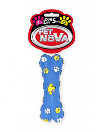 PET NOVA DOG LIFE STYLE Kauspielzeug Knochen 15cm blau