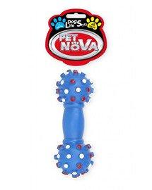 PET NOVA DOG LIFE STYLE Kauspielzeug Hantel 16cm Blau