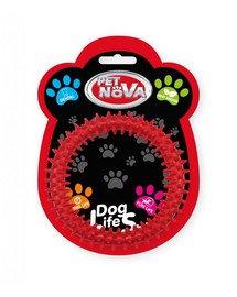 PET NOVA DOG LIFE STYLE Kauspielzeug Dental Minze Aroma 12,5cm Rot