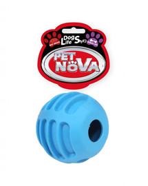 PET NOVA DOG LIFE STYLE Kauspielzeug Leckerlieball Rindfleisch Geschmack 6cm blau