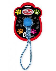 PET NOVA DOG LIFE STYLE Kauspielzeug Knochen + Seil Minze Aroma 40cm Blau