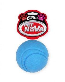 PET NOVA DOG LIFE STYLE Kauspielzeug Tennisball Rindfleisch Geschmack 5cm Blau