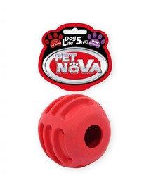 PET NOVA DOG LIFE STYLE Kauspielzeug Leckerlieball Rindfleisch Geschmack 6cm rot