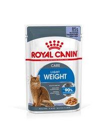 ROYAL CANIN Ultra Light Gravy Nassfutter in Soße für übergewichtige Katzen 12x85g