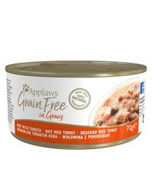 APPLAWS Grainfree in Gravy Rind mit Tomate 70g