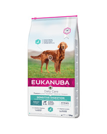 EUKANUBA Daily Care Sensitive Digestion Chicken Trockenfutter für ausgewachsene Hunde mit sensibler Verdauung 12 kg