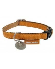ZOLUX Halskette Mac Leather gelb Halsumfang 22/32 cm x Breite. 10 mm für Hunde