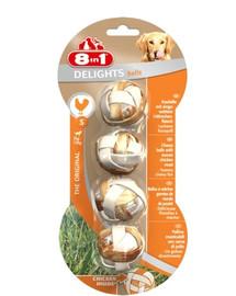 8in1 Snack für Hunde, Delights, Kaubälle S, 4 Stück