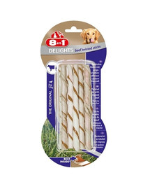 8in1 Delights Beef Twisted Sticks XS 10 Pack