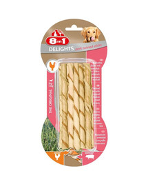 8in1 Delights Pork Twisted Sticks XS 10 Pack