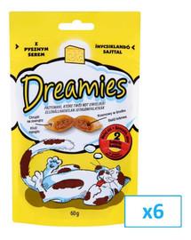 DREAMIES Katzenleckerli mit Käse 60g x 6