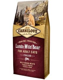 CARNILOVE  Lamb & Wild Boar Sterilised Cat Adult 2kg