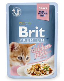 BRIT remium Cat Pouch with Chicken Fillets in Gravy for Kitten 85g