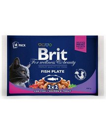 BRIT Cat Adult Fish Plate 4x100g