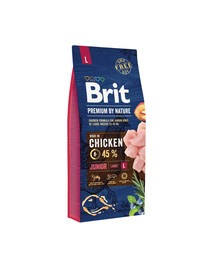 BRIT Premium By Nature Junior Large L 15 kg