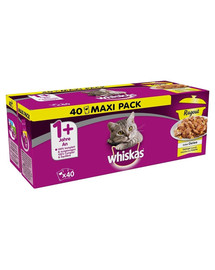 WHISKAS Ragout in Gelee Gefluegel 40 x 85g