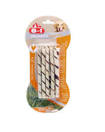 8in1 Beef Delights Twisted Sticks XS 10 Pack