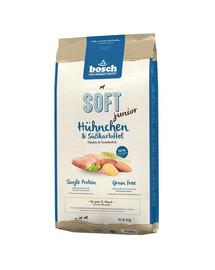 BOSCH Soft Junior Hühnchen & Süßkartoffel 12.5 kg