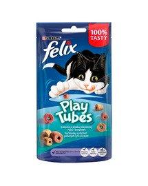 FELIX Play Tubes Katzensnack mit Fisch- und Garnelengeschmack 50 g