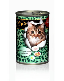 O'CANIS for Cats Kaninchen, Huhn & Lachsöl 400 g