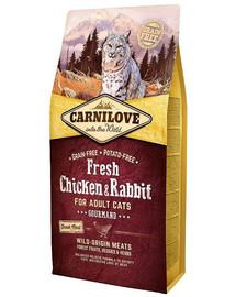 CARNILOVE Adult Gourmand fresh Chicken & Rabbit 6 kg