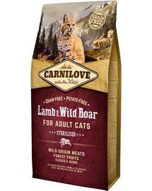 CARNILOVE Sterilised Cat Adult - Lamb & wild Boar 6 kg
