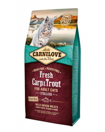 CARNILOVE Katze Fresh – Carp & Trout Sterilised 6 kg