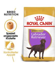 ROYAL CANIN Labrador Retriever Adult Sterilised Trockenfutter für kastrierte Hunde 12 kg