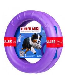 PULLER Mini Dog Fitness Spielring für mittelgroße Hunde, Doppelpack, 23 cm
