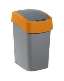 "CURVER Mülleimer ""FLIP BIN"" 25 L silber/orange"