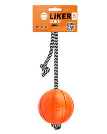 LIKER CORD Dog toy Hundeball mit Schnur 9 cm