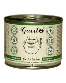 GUSSTO Cat Fresh Chicken FRISCHES HAEHNCHEN 200 g