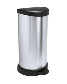 "CURVER  ""Metallic's"" Abfallbehälter 40 Liter, metallic-silber"