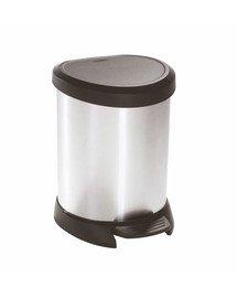 CURVER Metallic's Abfallbehälter 5 Liter, metallic-Silber
