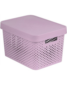 CURVER INFINITY Box mit Punktmuster, 17 L rosa