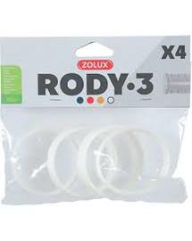 ZOLUX 4 Ringe für Rody-Röhre weiss